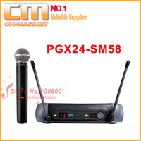 Free Shipping .UHF Hand Wireless Microphone PGX24- SM58C