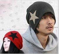 Holiday Sale Free Shipping New Fashion Korean UNISEX Men & Women Star Knit Hat Skull Cap Ski Knit Hat