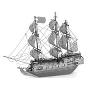 free shipping DIY model building Metallic Nano Puzzle DIY 3D Black Pearl Ship Laser Cut Models