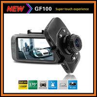 "Original Ambarella Car DVR GF100 2.7"" LCD 1080P Full HD 30fps+Touch Buttons G-Sensor H.264 IR Night Vision Video Recorder"