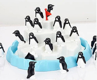 Iceberg stacked Penguin Desktop Game Toy  happy family Puzzle improve intelligence toy for Children