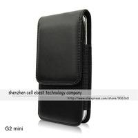 High Quality BLACK Clip Belt flip leather pouch case holster cover For LG Optimus G2 Mini D618 D620/F70 D315