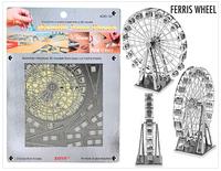 free shipping DIY model building Metallic Nano Puzzle DIY 3D Ferris Wheel Laser Cut Models