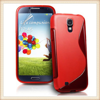 For Galaxy S4 Gel Case, TPU Back Cover for Samsung Galaxy S4 i9500, 200pcs/lot 100pcs per color Free Film Free Shipping