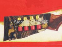 1x CAMO Allen hunting Shotgun Rifle 4 Shells Butt Stock Shell Cartridge Holder Shotshell Ammunition Carrier 4 Elastic fabric