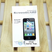Free Shipping Wholesale 2 pcs/Lot Explay Vega Smart Cell Phone LCD Screen Protector/Guards Senior Clear Film With Cleaning Cloth