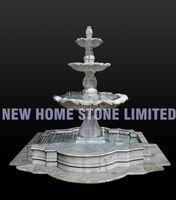 white marble 3 layers water garden fountain ideas