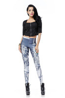 Casual 2014 New Spandex Leggings Fashion Women Leggings Pants Black Milk Galaxy Leggings Shiny Digital Printed Leggings