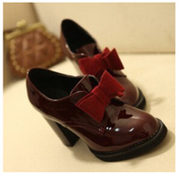 2014 NEW women flats genuine leather shoes British style Fashion high quality oxford shoes with sweet bow-knot NX082