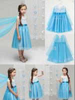Frozen Clothes Kids Princess Frozen Elsa Costume Vestidos de menina Girls Dresses for 2-7 ages vestidos infantis