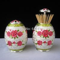Kingfom Hot sale retro fashion style zakka crafts toothpick holder box home desktop decoration accessories business gifts 1004