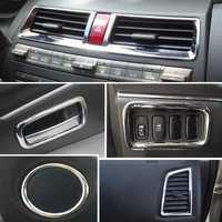2011 2012 2013 2014 Mitsubishi ASX ABS Chrome trim Interior decoration light bar for 17pcs/lot auto car accessoires