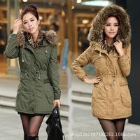 2014 Fashion Winter Warm Coats Women Casual Faux Fur Jackets Solid Color Active Military Parka Coat Anorak Overcoat M-XXXL,X1101