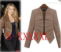 New Leather Jacket Women Jaqueta de couro Feminina 2014 Suede Leather Slim Jacket Coat Many Size Good Quality