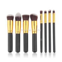 1 set 8PCS Face Eyeshadow Nose Foundation Kit  Makeup Brush Set Cosmetics Foundation blending blush Free shipping