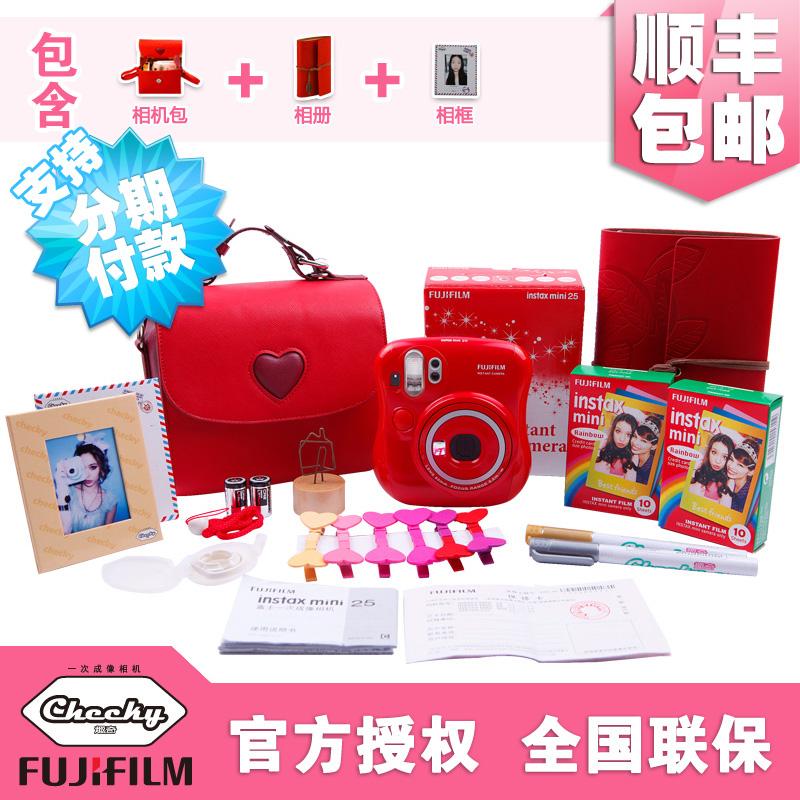 Fuji polaroid for mini 25 red, white and pink camera bundle an imaging camera(China (Mainland))