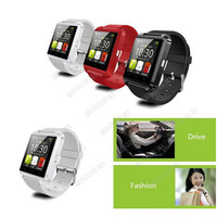 Bluetooth Smart Watch Wristwatches U Watch for iPhone 4/5s for Samsung S5/Note 2 HTC Android Smartphones Remote Taking Photo