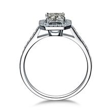 ZOCAI Luxurious series 0 45 CT Certified D E VVS princess cut diamond engagement ring 18K