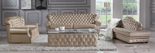 LBZ-0910# Living Room Leather Sofas Golden Luxury Leather Sofas(China (Mainland))