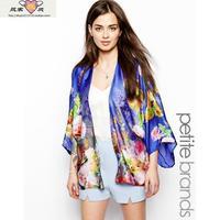 2014 summer new women's European and American wind gradient print kimono coat loose, casual jackets