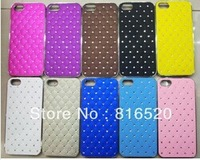 New arrival Bling Crystal Diamond Chrome Hard Case For iPhone 5 5G Factory Sell 500pcs/lot
