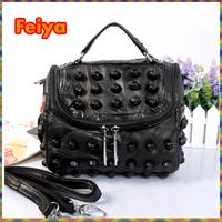 J12971 New Fashion Brand For Women Messenger Bag Small Crossbody Rivet Bag Woman Handbag Patchwork Designer Totes