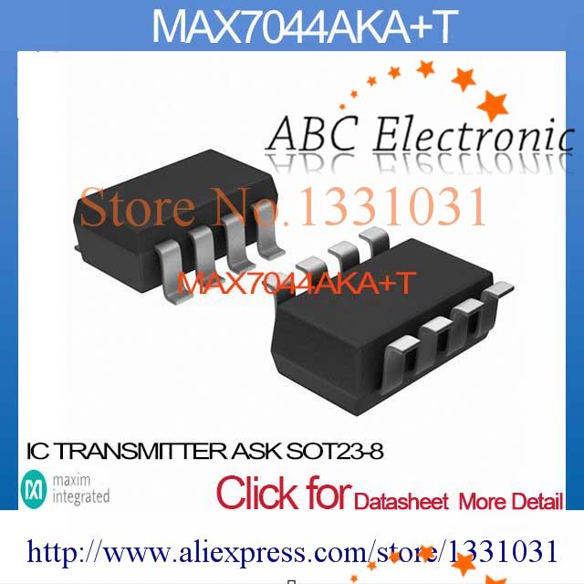 MAX7044AKA+T IC TRANSMITTER ASK SOT23-8 MAX7044AKA 7044 MAX7044 MAX7044A MAX7044AK 7044A(China (Mainland))