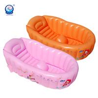 Free Shipping Newborn Baby Comfortable Bathtub  Pure Color  Portable Bathing Tub  Kids Shower Pool With Pump
