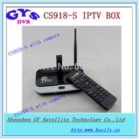 Quad core IPTV box CS918s with camara  android 4.2 system RK3188 CS918s iptv box with camara for global use