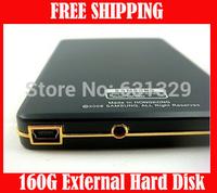 "Free Shipping !Hot Sale External 160G Hard Drive 160GB External Hard Disk USB 2.0 2.5"""