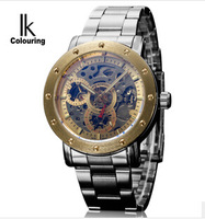 The new 2014 personality iridescence fully automatic mechanical watches Double-sided hollow-out men watch leisure men's watch