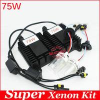 Guarantee 2 year,75W hid xenon kit H1 H3 H7 H8 H11 9005 9006 hb3 bh4 4300k 6000k 8000k for car headlight two AC ballast