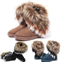 New Autumn Winter Women Snow Boots Ankle Boots Warm Fur Shoes