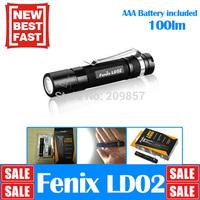 LD01 Upgrage Edition Original FENIX LD02 Cree XP-E2 LED lamps100 Lumen +AAA battary Outdoor portabel led flashlight + Free ship
