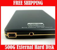 "Free Shipping ! 2.5"" 500G Portable Size HDD External Hard Drive Disk 500GB take it!"