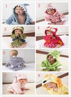 Free Shipping Hooded Animal Modeling Baby Bathrobe/Cartoon Baby Towel/Character Kids Bath Robe/infant Bath Towels, BP16