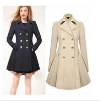 2014 new women's autumn and winter OL long sections Slim coat windbreaker jacket winter coat for woman XL XXL