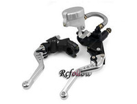 """7/8"""" Universal Brake Clutch Levers Master Cylinder Reservoir For ZX Ducati BMW"""