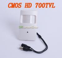 3.7mm Lens HD CMOS 700TVL Hidden Security Indoor Mini PIR Surveillance Camera CCTV Camera Free Shipping