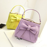2014 summer new Korean style iron mouth bow bag fashion candy -colored women shoulder bags handbags lady  messenger bags