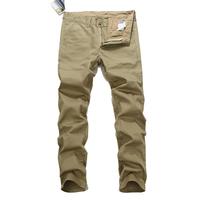 2014/7/4 Best Men's Clothing Men's Jeans GCA3801B Khaki Color Mid-Rise Fashion Solid Straight Jeans Men