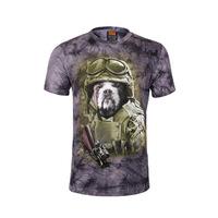 Men's t-shirts, 3 d printing to dye the dog animal motifs short-sleeved summer leisure fashion