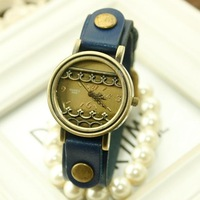 Wholesale vintage 100% genuine leather big face watch for women brand new hot sale dropship reloj de piel