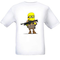 High quality free shipping Despicable Me  T-shirt top lycra cotton Fashion Brand Despicable Me t shirt