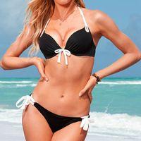 2014 New Fashion Cute Pink Beach Bikini Set Femal Sexy Spa Swim Swimsuit
