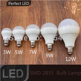 1pcs E27 B22 Led Light Bulb 3W 5W 7W 9W 12W LED Bulb Lamp 220v 240V Cold white Warm White Led Spotlight free shipping Wholesale(China (Mainland))