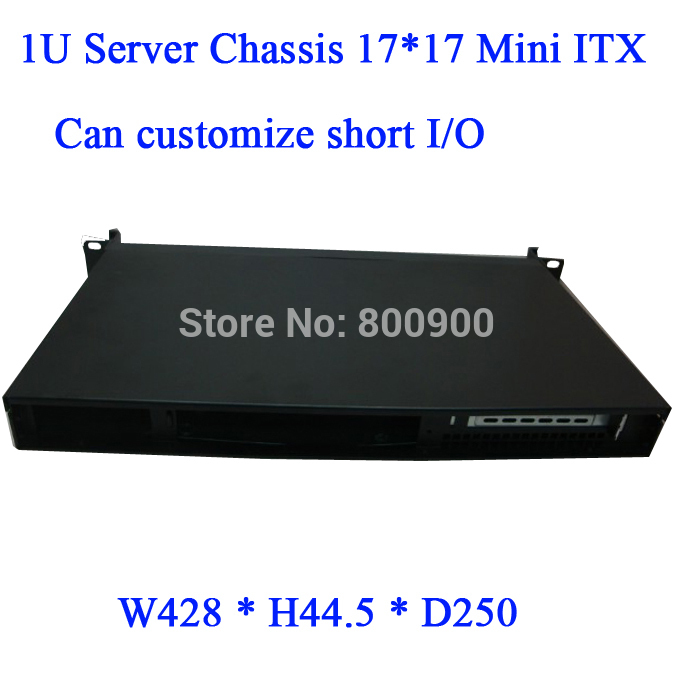 itx ipc mini itx case Mini- ITX chassis 17*17 short 1U chassis 1U server chassis firewall computer motherboard chassis(China (Mainland))