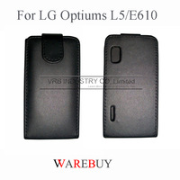 Hot classic flip full protect Leather phone Cases For LG optiums L5 E610 EXW wholesale DHL Fedex UPS drop shipping