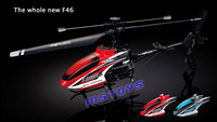 MJX F46 F646 2.4G 4CH 4 channel Single-Rotor RC Helicopter LCD/PRO MEMS GYRO Toy  Free Shipping