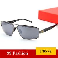 New 2014 Driver Sunglasses Fashion Glasses Vintage Anti UV Polarized Sunglasses Origina Men Brand Designer P8574 Free Shipping